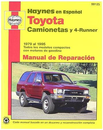 amazon com haynes toyota camionetas and 4 runner 79 95 spanish rh amazon com