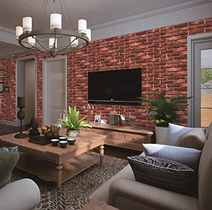 Sensational Buy Eurotex Brick Design Wallpaper For Covering Living Room Download Free Architecture Designs Grimeyleaguecom