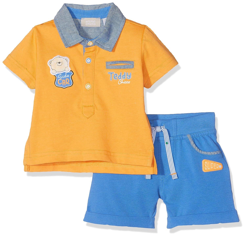 Chicco Baby Boys Completo Polo Manica Corta Pantaloncini Shirt