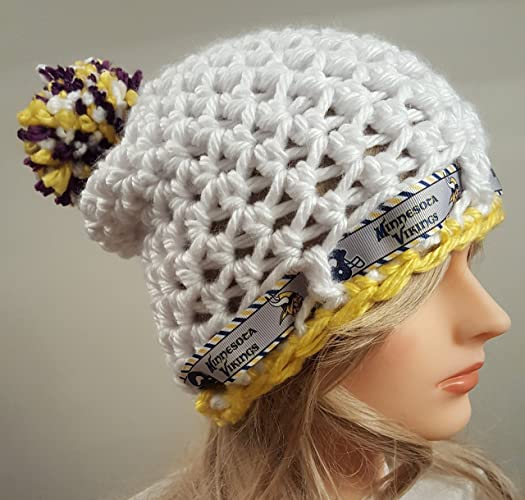 3ec6df12a Image Unavailable. Image not available for. Color  crochet VIKINGS slouch hat  inspired ...