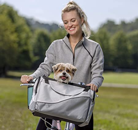 PetSafe Happy Ride Bicycle Basket for Dogs and Cats - Premium-quality