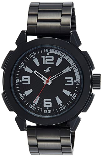 4. Fastrack Analog Black Dial Men's Watch-NK3130NM01