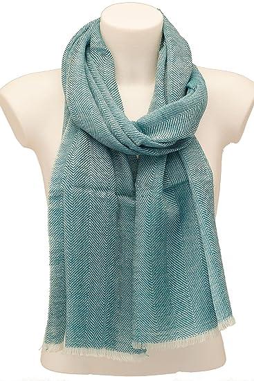 Pure laine Écharpe, homme et femme, Vert, turquoise, Noir et sable Couleurs  - Vert - Taille unique  Amazon.fr  Vêtements et accessoires 1ce4d0304d5