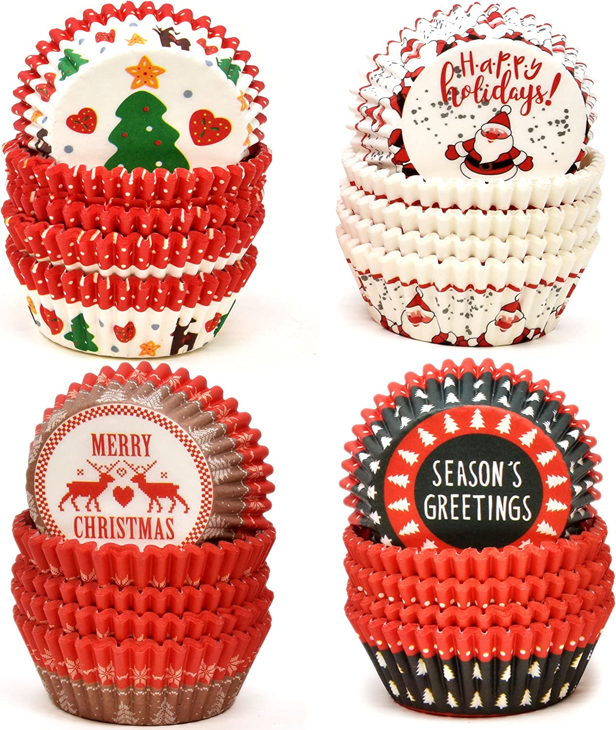 White Snowman Cupcake Liners For Special Celebration Christmas Holiday Baking Cups Pack of 300