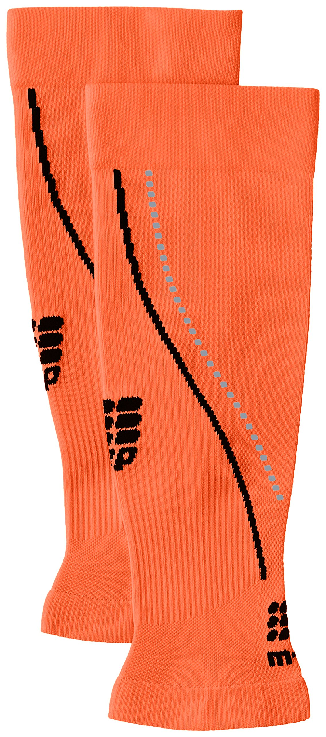CEP Men's Progressive+ Night Calf Sleeves 2.0 Provide Unique Compression Technology for Running, Cross Training, Fitness, Calf Injuries, Shin Splits, Recovery and Athletics, 20-30mmHg , Flash Orange/Black , V