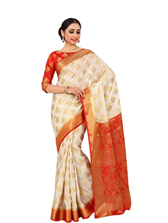 02b49693d6 Image Unavailable. Image not available for. Colour: Mimosa By Kupinda  Women's Art Silk saree ...