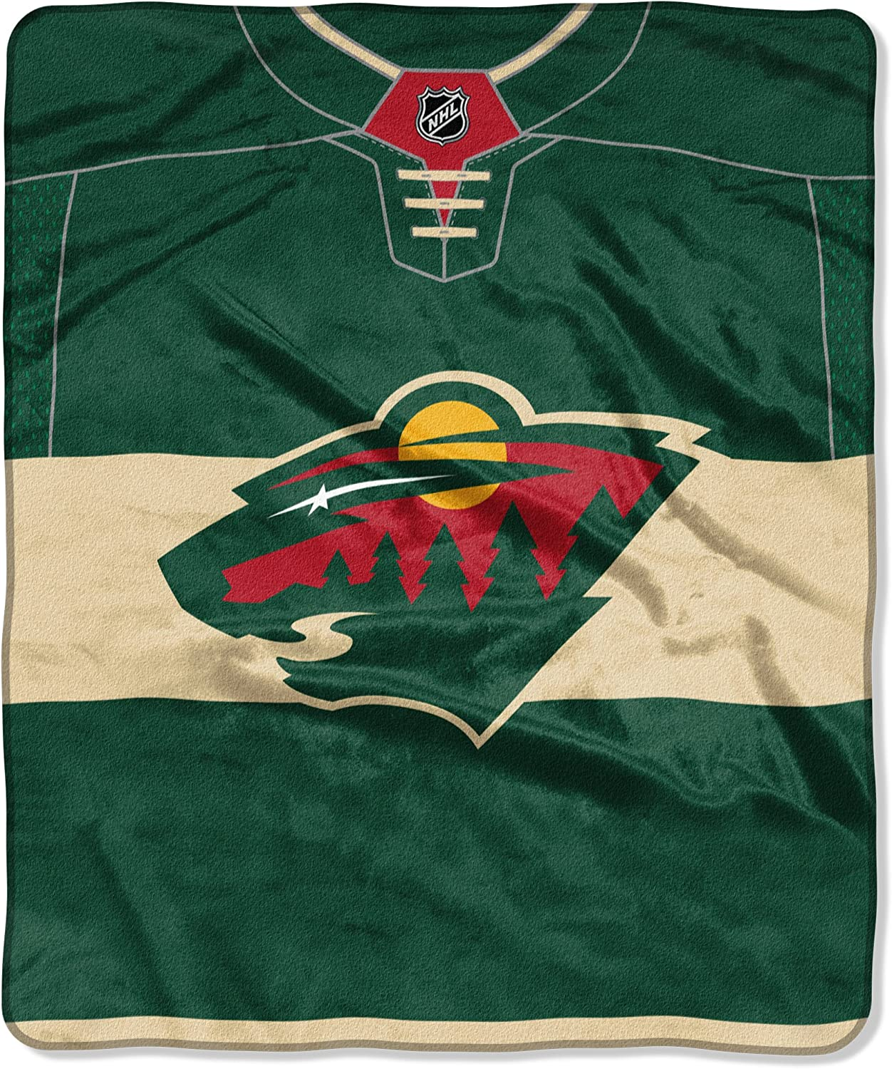 Officially Licensed NHL Pro Jersey Plush Raschel Throw Blanket 50 x 60