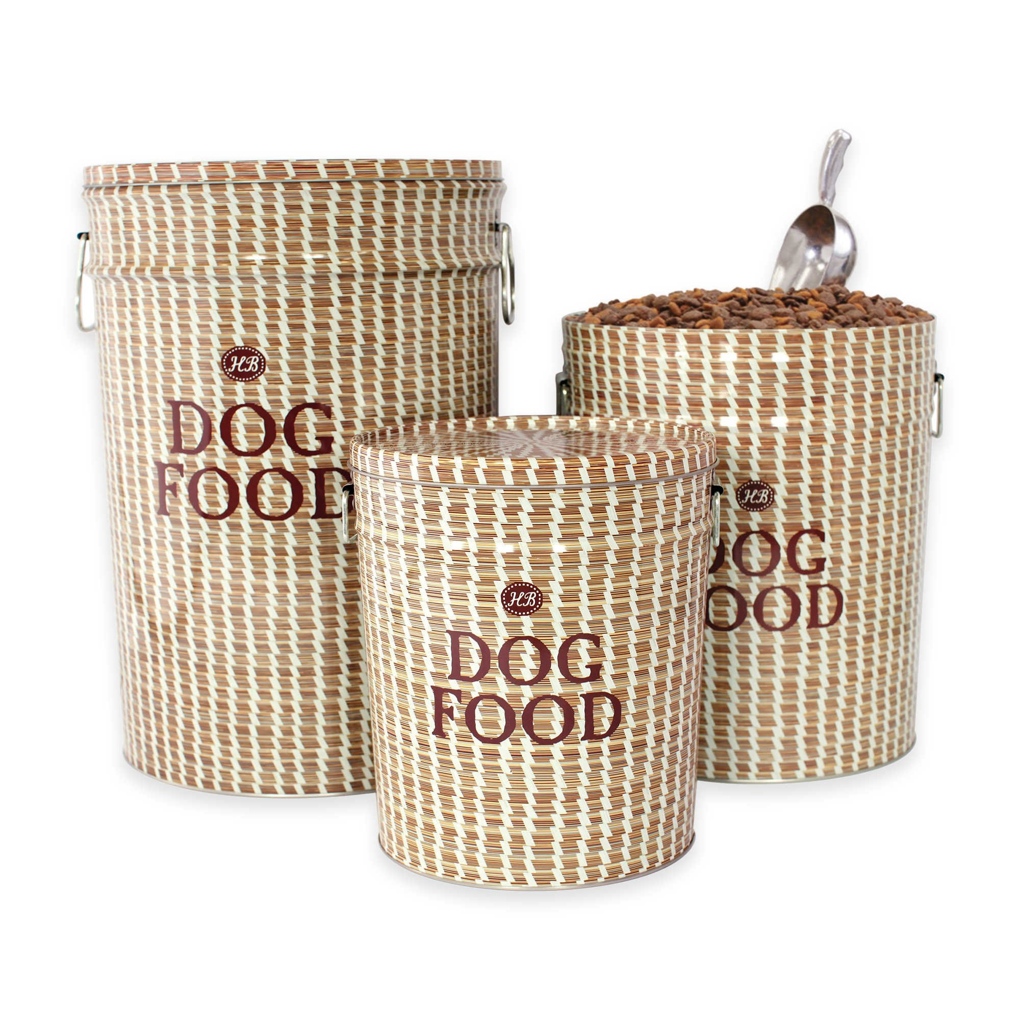 Harry Barker Food Storage Containers in Various Sizes and Styles (Medium (22lbs), Sweetgrass)