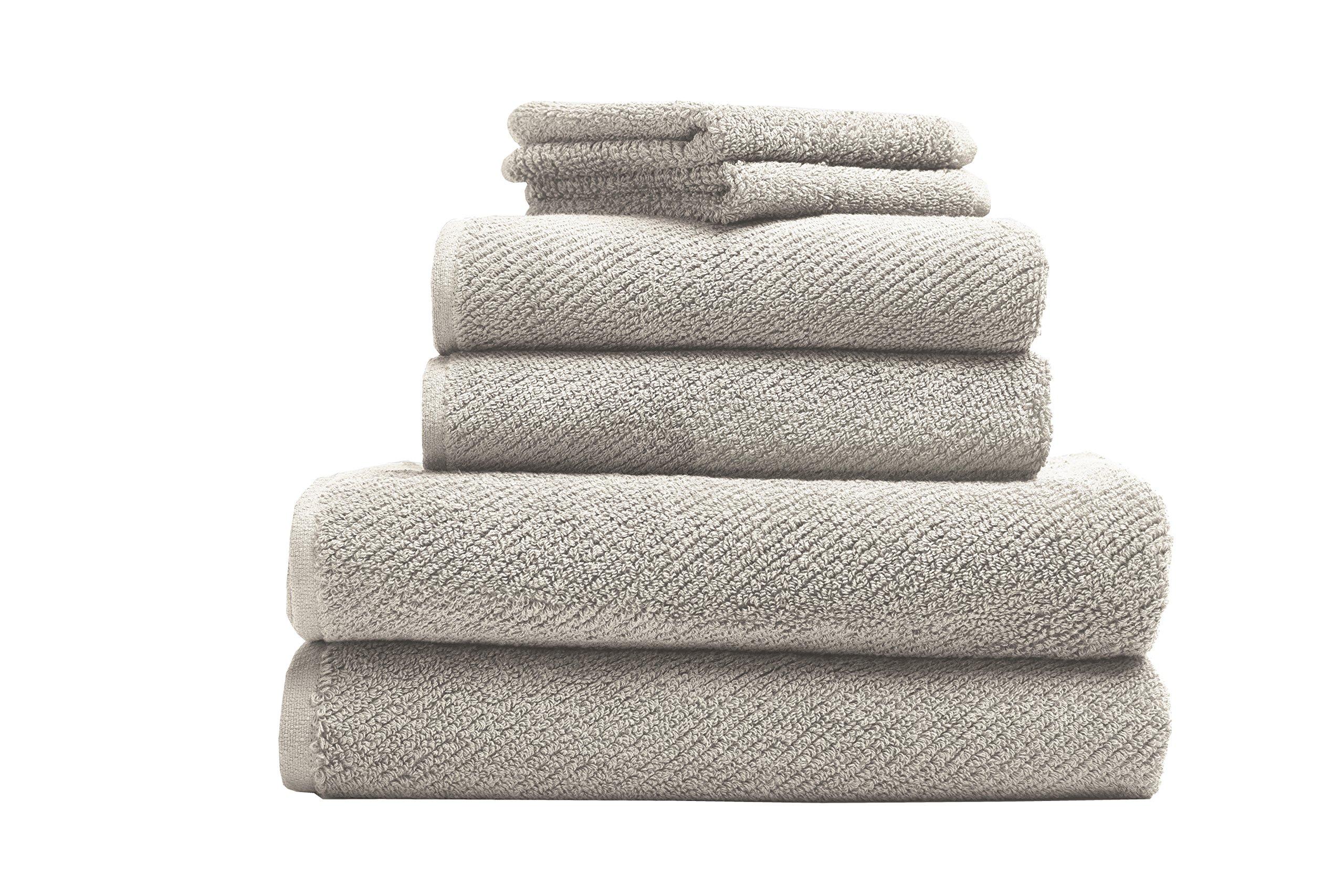 Coyuchi Air Weight Organic 6pc Towel Set, BT, HT, WC, Undyed