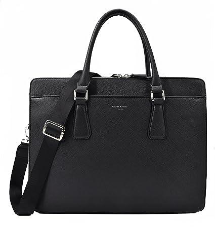 David Jones - Men s Business Briefcase Satchel - Shoulder Messenger Bag PU  Leather - 13 Inch 6f1337bf0939e