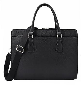 6b071a5491638 David Jones - Große Herren Handtasche - Briefcase Aktentasche Arbeitstasche  - PU Leder - Umhängetasche -