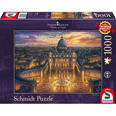 Schmidt Spiele 59628 Jigsaw Puzzle 1000 Pieces Multi-Coloured by Thomas Kinkade Vatican: Toys & Games