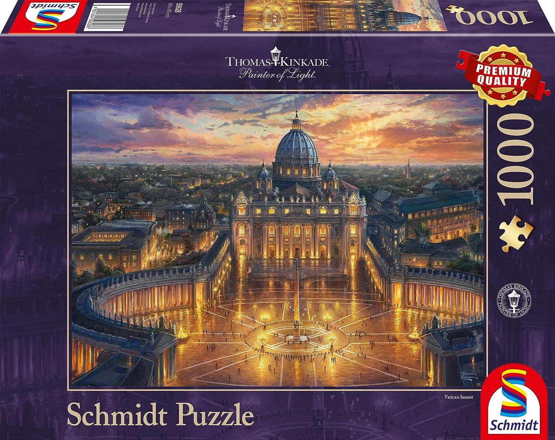Puzzle Schmidt Spiele 59628 Thomas Kinkade 1000 Piezas dise/ño de Vaticano