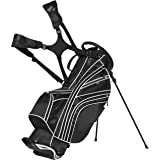Best Choice Products Golf Bag Stand 6 Way Divider Organizer Carry Straps