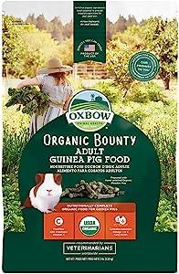 Oxbow Animal Health Organic Bounty Adult Guinea Pig Food, Made In The USA, 3 Pound Bag
