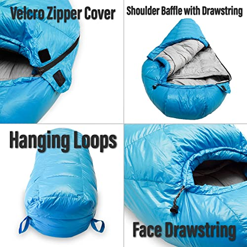 sleeping bag hanging loops