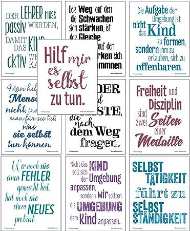 montessori sprüche Montessori Zitate, 10 Motivations Poster zur Montessori Pädagogik  montessori sprüche