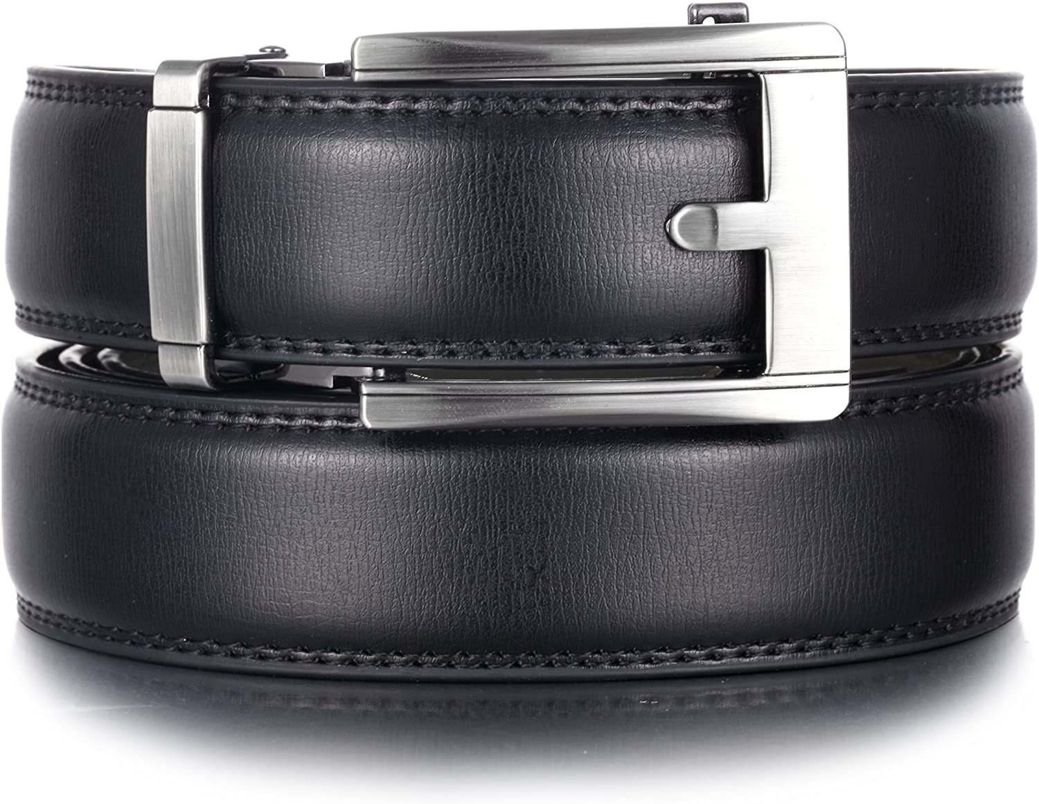 Mio Marino Ratchet Belts for Men - Genuine Leather Dress Belt - Automatic Buckle