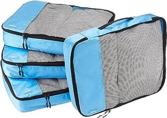 AmazonBasics 4-Piece Packing Cube Set - Large, Sky Blue