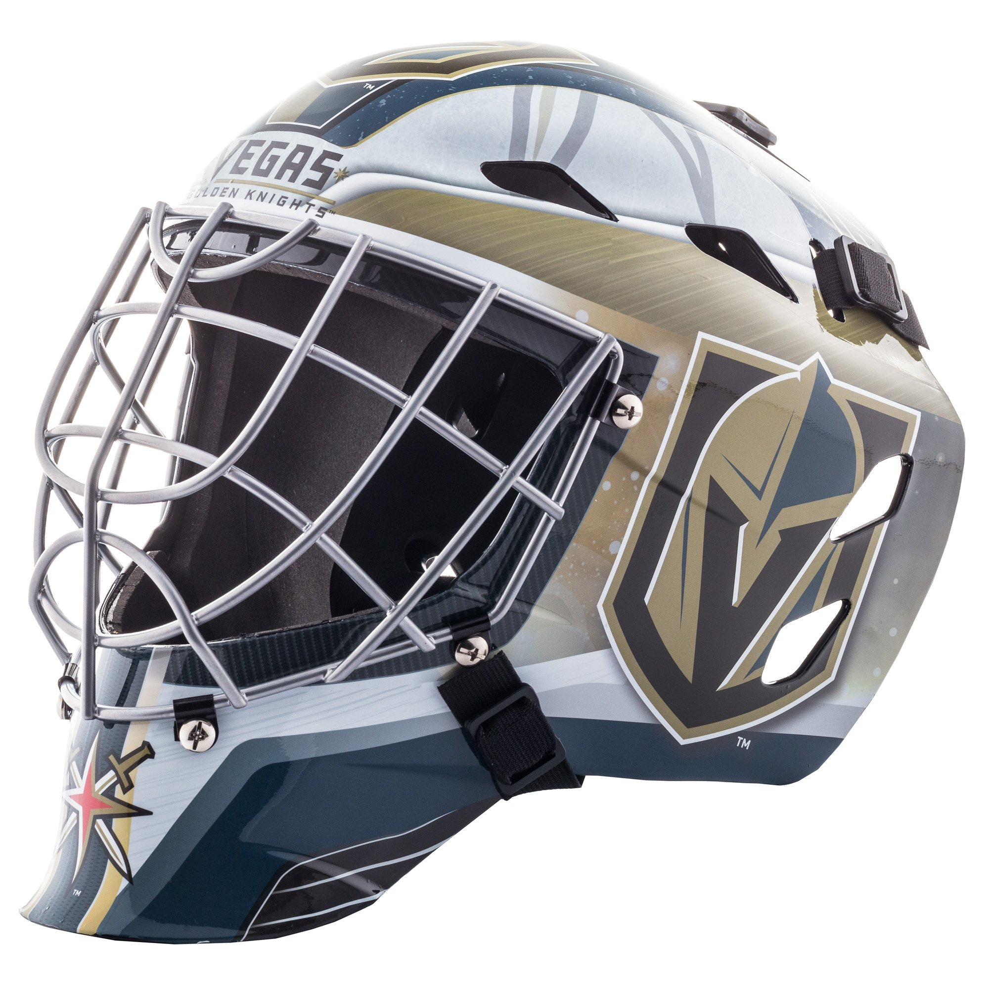 55b16863339 Franklin Sports GFM 1500 NHL Team Goalie Face Mask — Street Hockey Mask  Modeled After U.S.