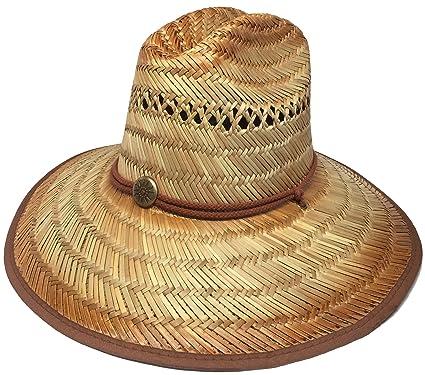 Headchange Wide Brim Lifeguard Hat Rush Straw Beach Sun Summer Surf ... a5cb84b5651