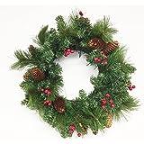 "18"" Wreath with Berries and Pinecones (Unlit)"