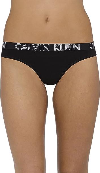 Calvin Klein Para Mujer Ultimate Cotton Thong Bragas Tipo Tanga - Negro - L