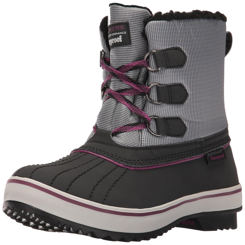 Skechers Highlanders-EisbAtilde;curren;r-Schnee-Boot  6 B(M) US|Black/Grey/Purple