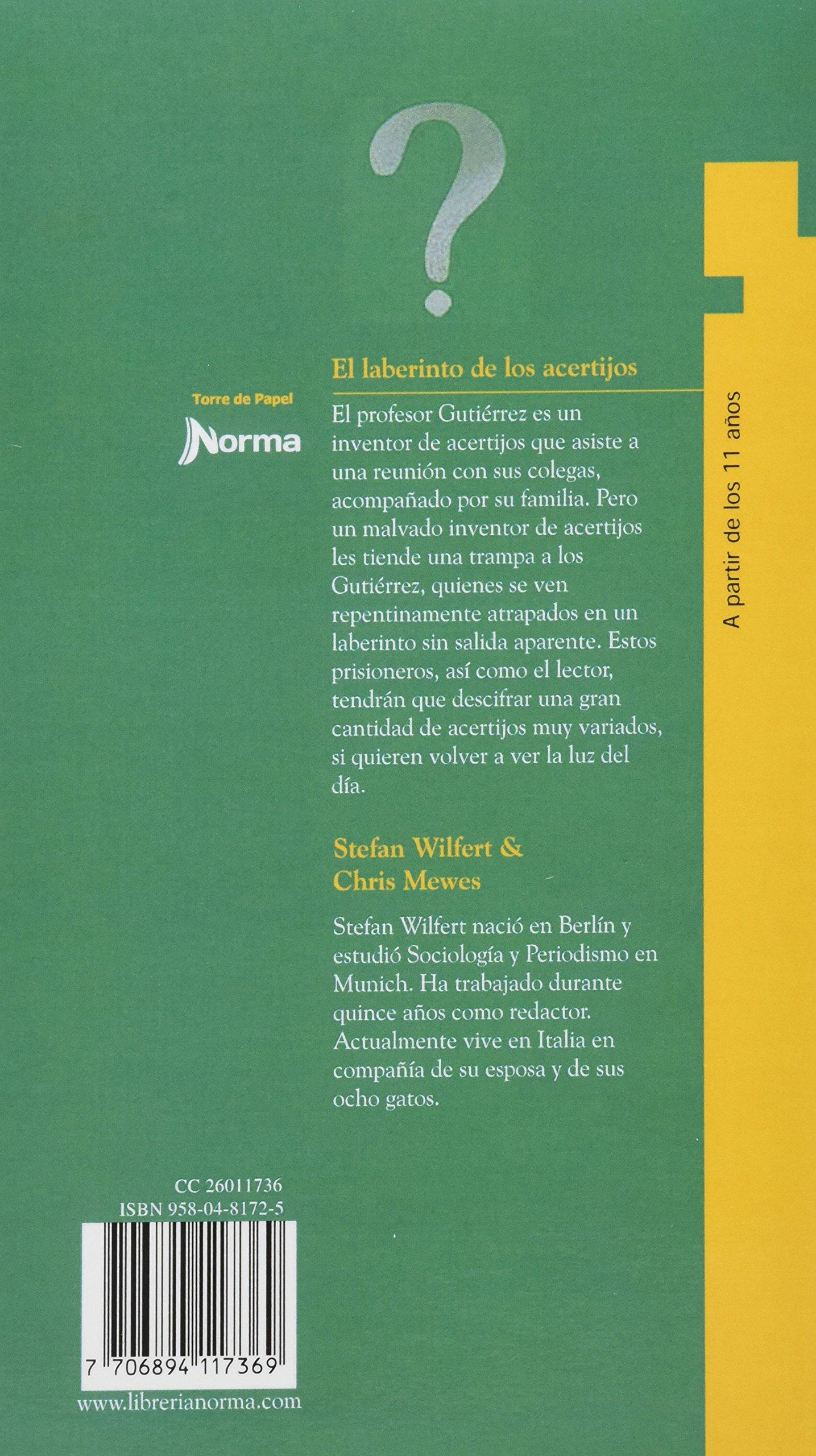 EL LABERINTO DE LOS ACERTIJOS: STEFAN WILFERT Y CHRIS MEWES: 7706894117369: Amazon.com: Books