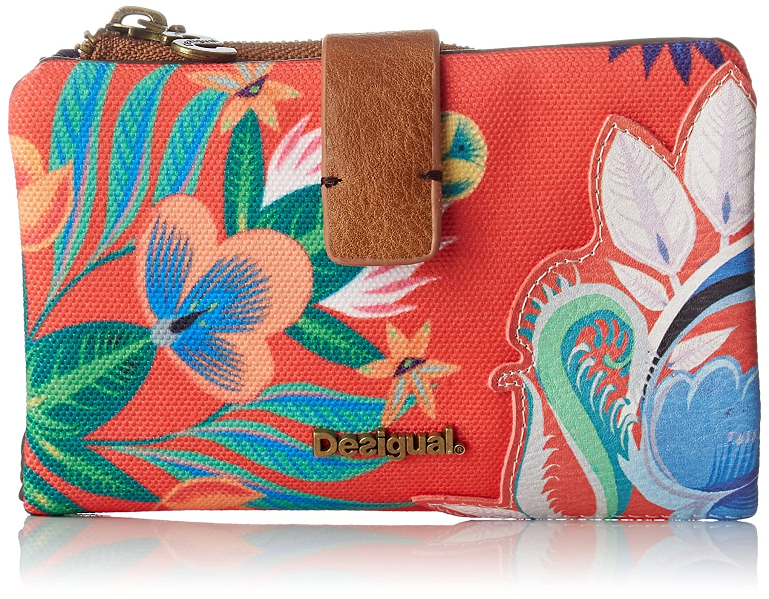 Amazon.com: Desigual Mone_liana Julia Womens Wallet Red (Carmin) 2x9.5x14.3 cm (B x H x T): Shoes