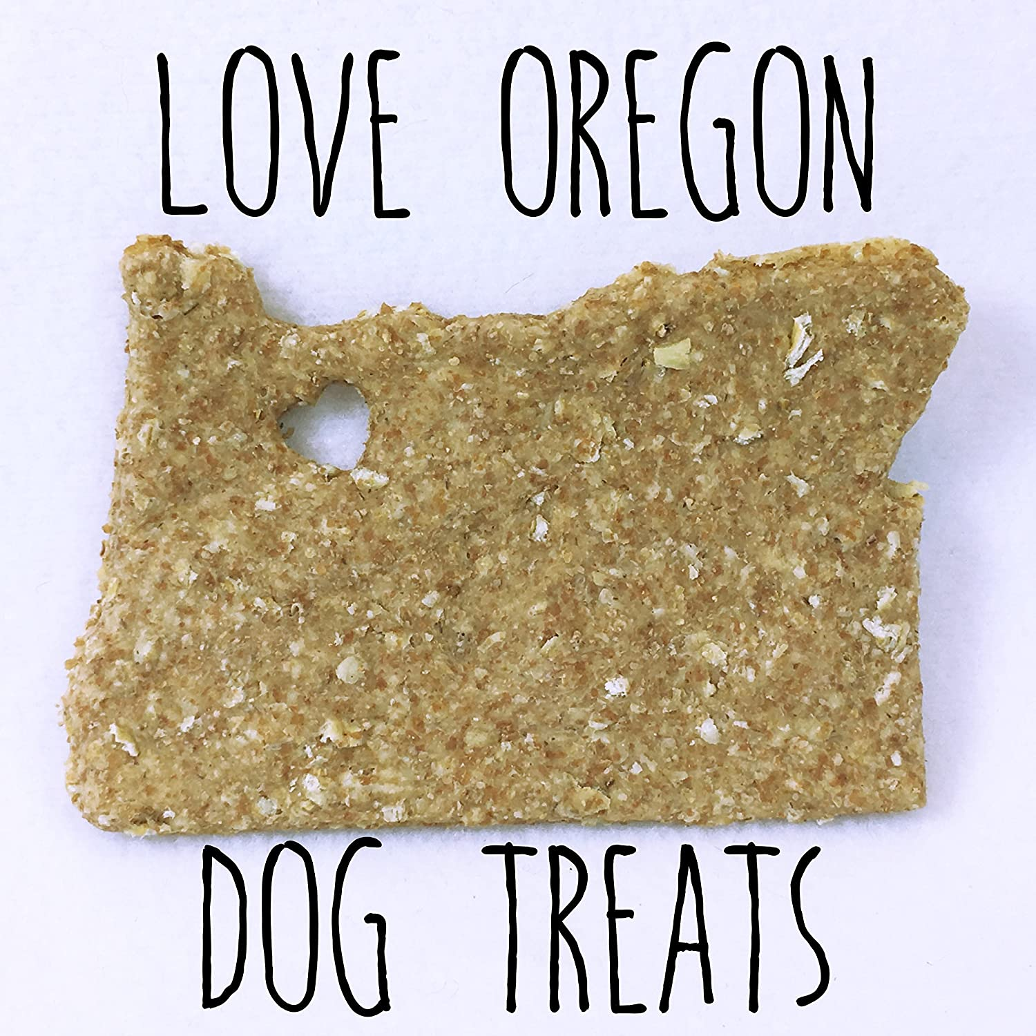 9 Love PDX/Oregon-Shaped Dog Treats/Corn Soy and Dairy Free/Vegan Options/No Added Preservatives, Fillers or Color