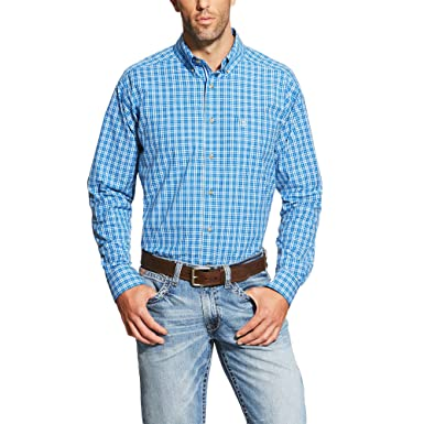 3770d39d Image Unavailable. Image not available for. Color: Ariat Men's Western  irwin Long Sleeve Button Down Shirt, Blue Plaid ...