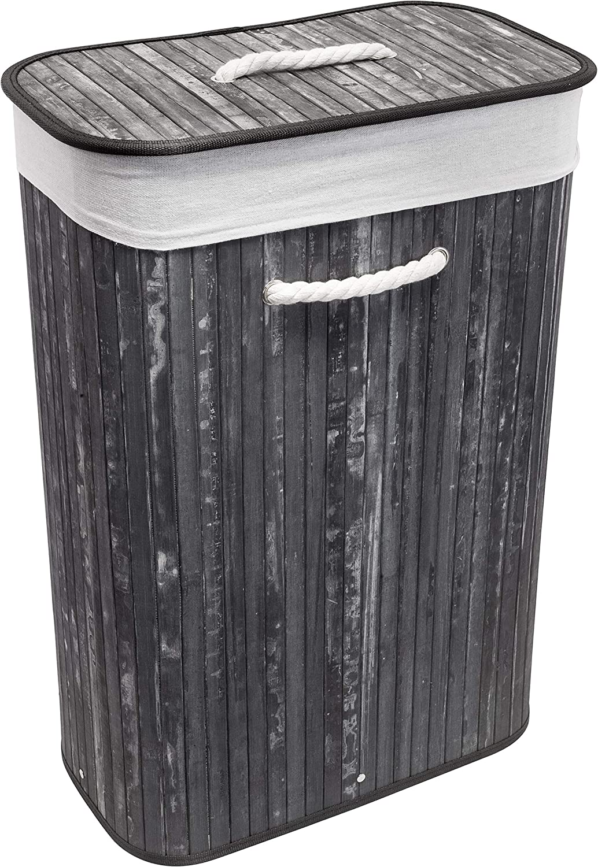 Euroshowers GmbH Cesto para la ropa sucia plegable rectangular 60 x 40 x 22 cm 75 l de volumen negro alto x ancho x profundidad: aprox