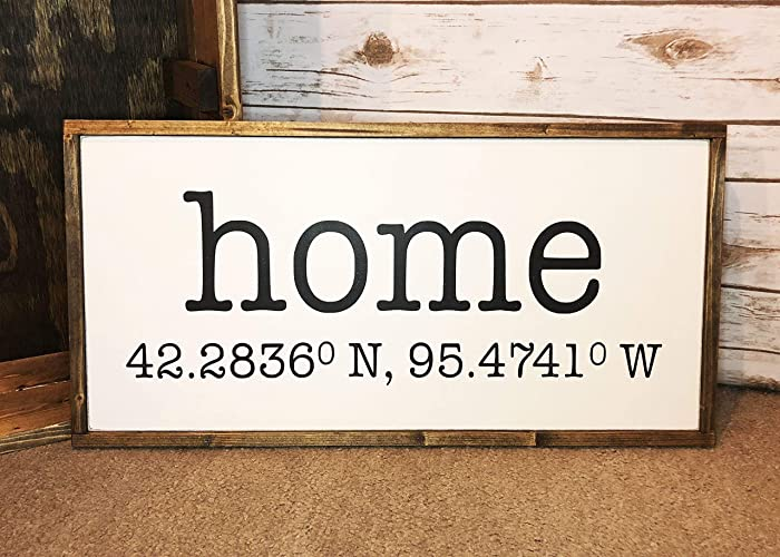 Amazoncom Handmade Framed Farmhouse Style Wooden Sign Home With