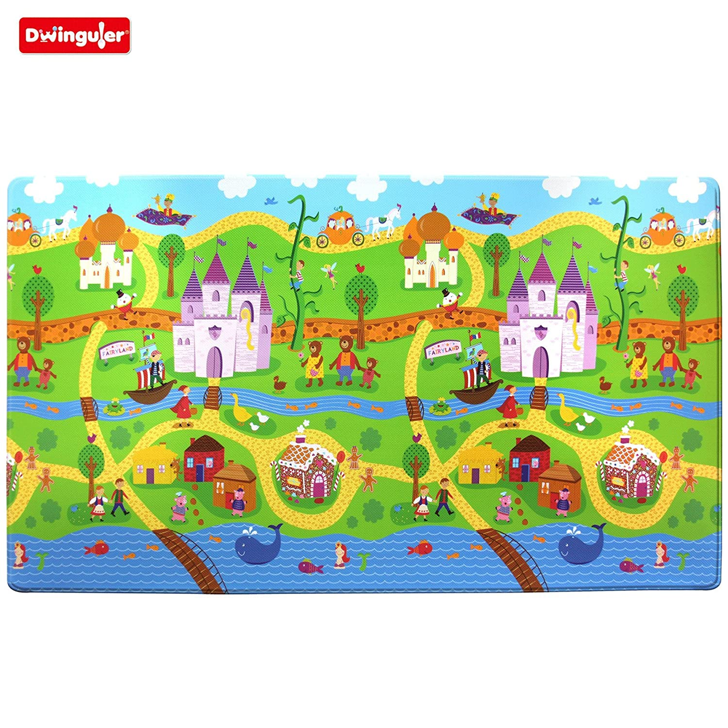 Dwinguler Eco friendly Kids Play Mat Fairy Land Amazon