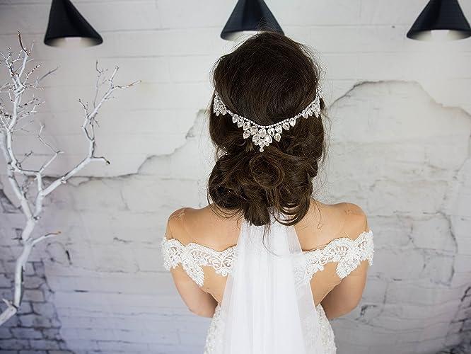 Amazon.com  Crystal Bridal Head Chain 8a99cae0ac2