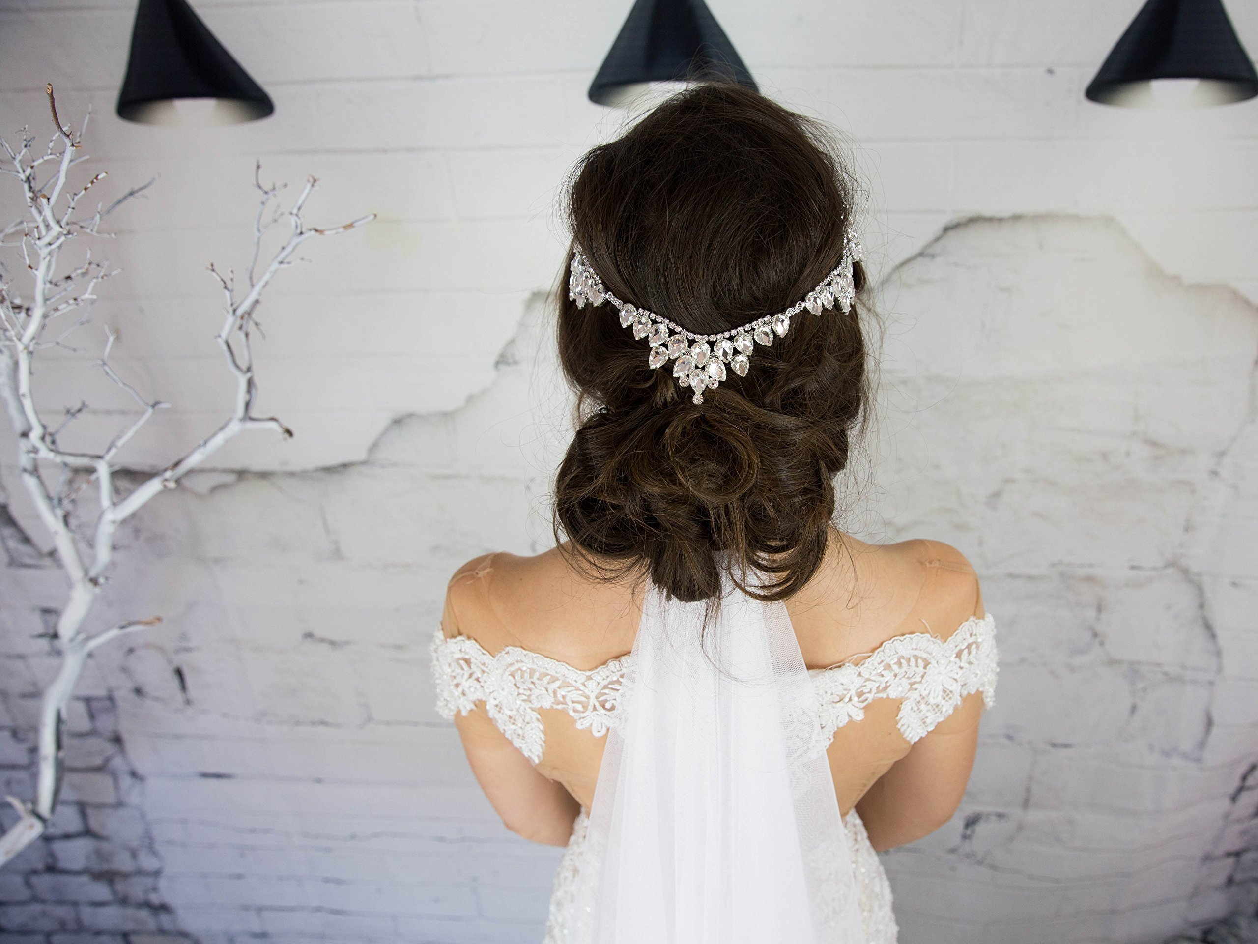Crystal Bridal Head Chain, Goddess Headpiece, Wedding Hair Accessories, Glam Hair Jewelry, Designer Headband