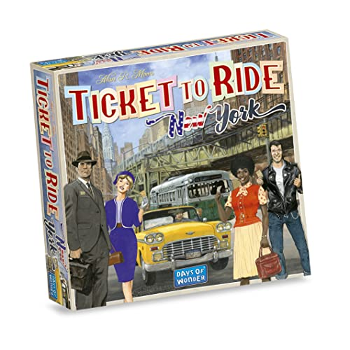 Days of Wonder DOW720060 Ticket to Ride New York, Multicolour