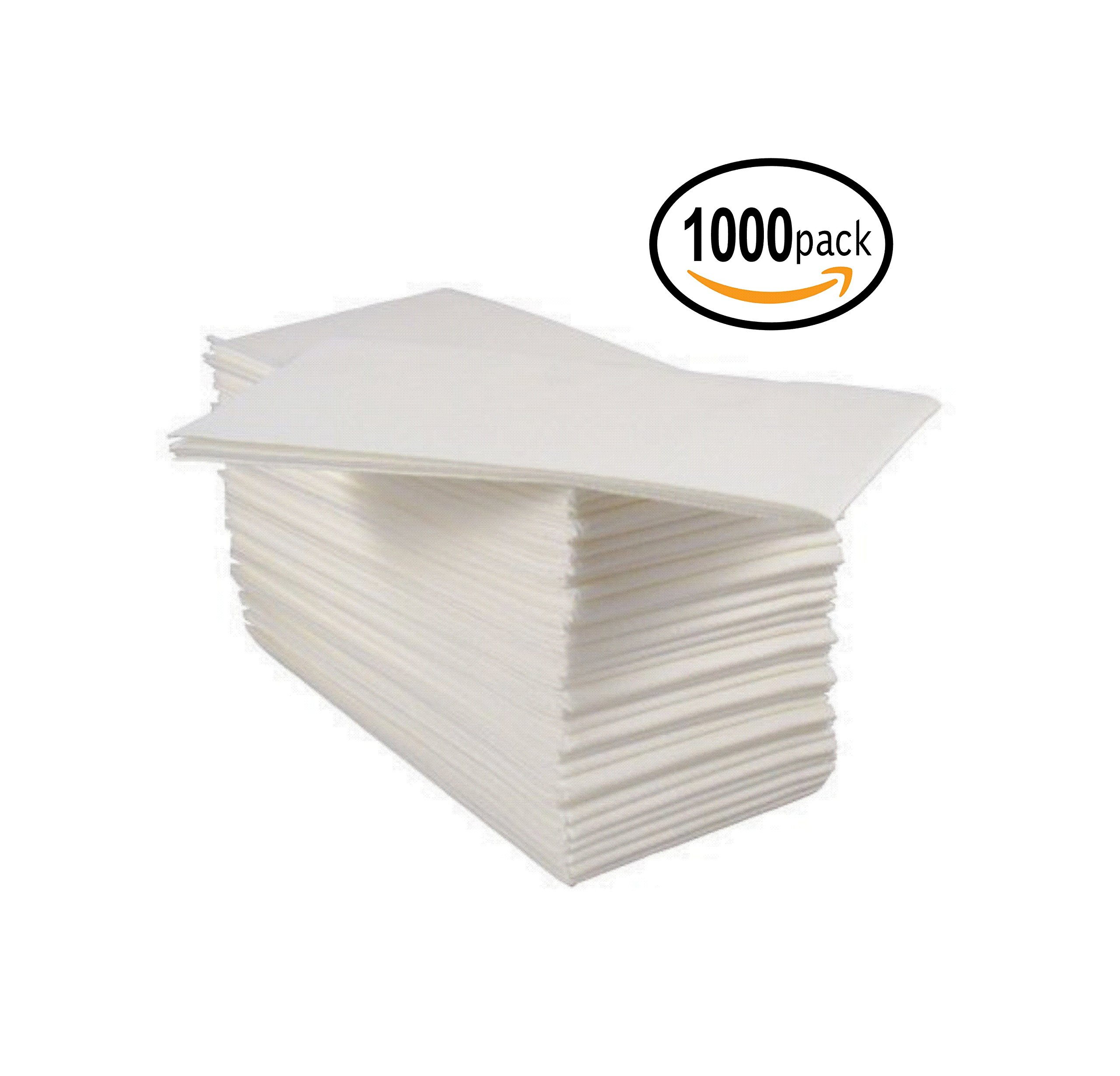 Bloomingoods Disposable Linen-Feel Guest Hand Towels / Cloth-Like Paper Napkins, White, Pack of 1000 (Bulk Packaging) by BloominGoods