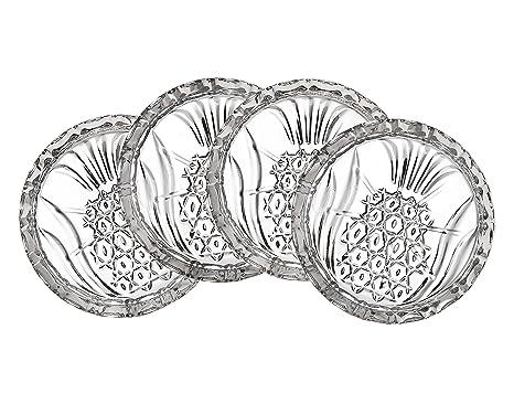 Amazon.com: Juego de 4 Crystal Piña Posavasos by Shannon by ...