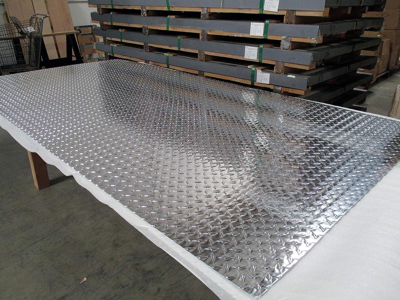 Amazon Com 3003 Aluminum Diamond Plate Brite Finish 125 1 8 X 48 X 96 2 Pcs Industrial Scientific