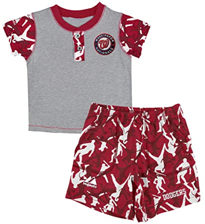 28ffbedc23d Amazon.com: MLB Washington Nationals Platoon System Henley Shorts ...