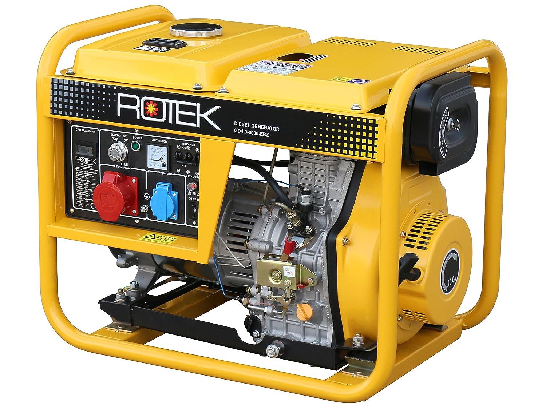 Rotek Schallgedä mmter Diesel Stromerzeuger GD4SS-3-13000-ES (13, 7 kVA / 11kW 400V 50Hz 3-phasig)