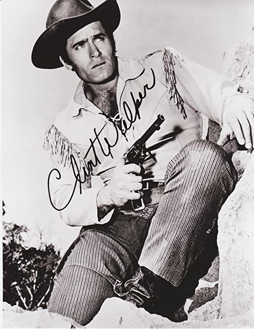 8 X 10 Photo Autograph on Glossy Photo Paper Vintage TV Star Kirkland Signature Clint Walker Cheyenne