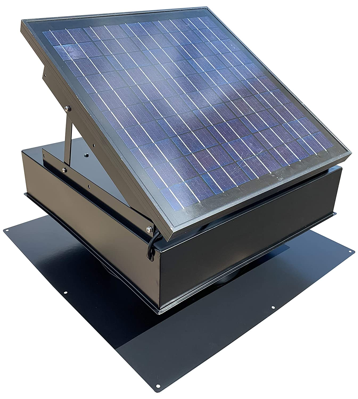Remington 30-Watt Solar Attic Fan for Barns