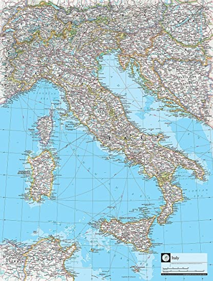 Map Of Italy Wallpaper Wall Mural Self Adhesive Multiple Sizes