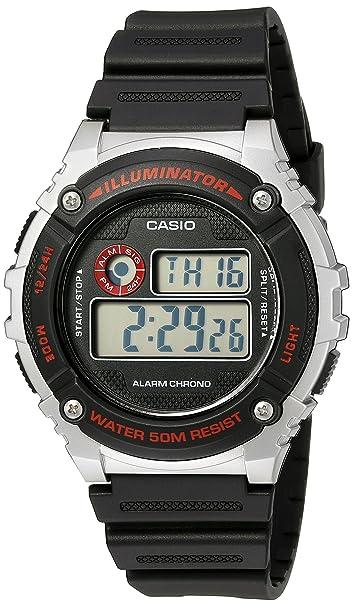 Amazon.com: Casio Mens Illuminator Quartz Resin Watch, Color:Black (Model: W-216H-1CVCF): Casio: Watches