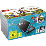 New Nintendo 2DS XL, Nero/Turchese + Super Mario 3D Land (Digital Download) [Importación italiana]