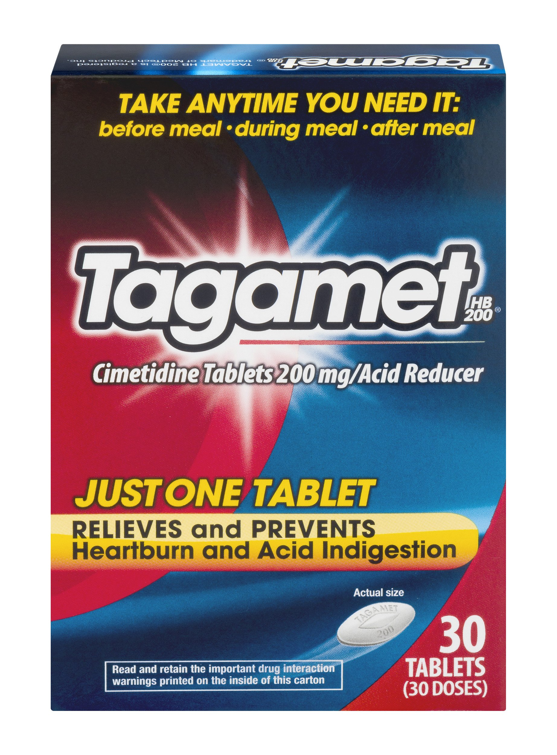 Tagamet Acid Reducer, 200mg, 30-Count Tablets, 30 Count (Pack of 3) by Tagamet