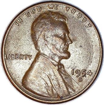 1954 S Lincoln Wheat BIE Error Penny Good at Amazon's